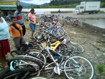 Bikesfortheworld.org About a third of the donated